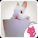 Beautiful Rabbit Background icon