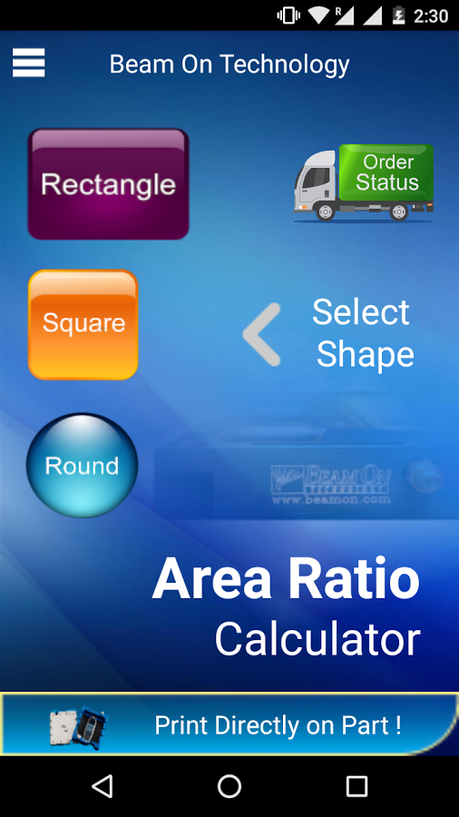 Area Ratio Calculator- screenshot