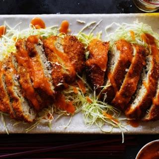 Pork Menchi Katsu With Apple Katsu Sauce.