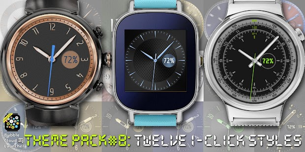 "Bubble Cloud Watch Face Pack 8 - ""Fancy"" Screenshot"