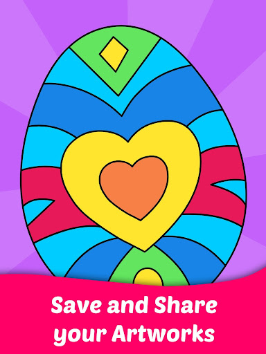 Code Triche Easter Egg Coloring Game For Kids APK MOD screenshots 3