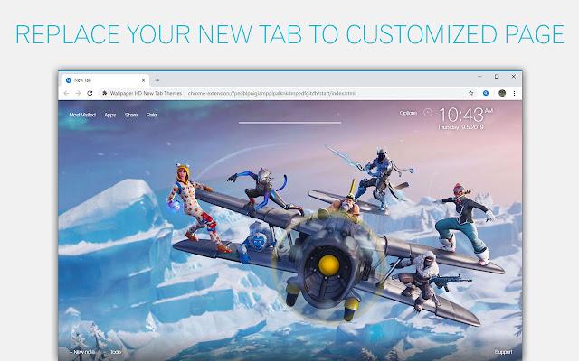 Fortnite vs Apex Legends Custom New Tab