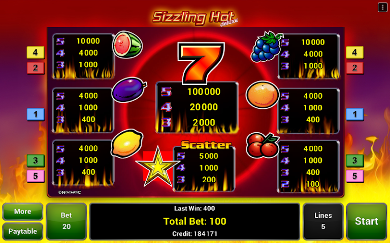 android Sizzling Hot™ Deluxe Slot Screenshot 3