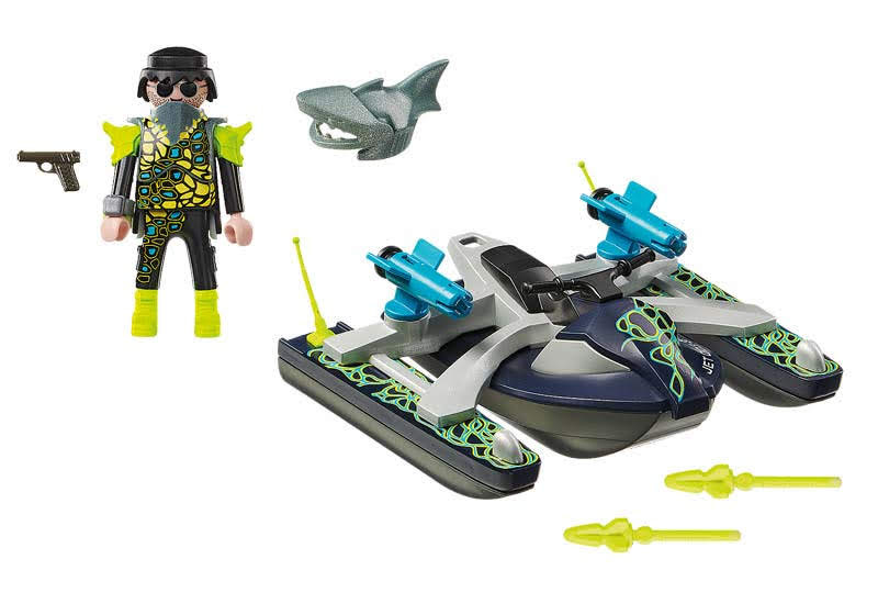 Contenido Real de Playmobil® 70007 SPY TEAM:  Nave Cohete