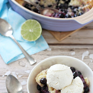Blueberry Lime Coconut Cobbler