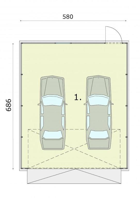 Projekt Garażu Gb17 Garaż Blaszany Tyx 115 3853m²