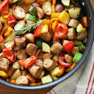 Summer Vegetables with Sausage and Potatoes.