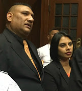 Sadia Sukhraj's devastated parents Shailendra and Lorraine after judgment was delivered in the Durban High Court on Monday.