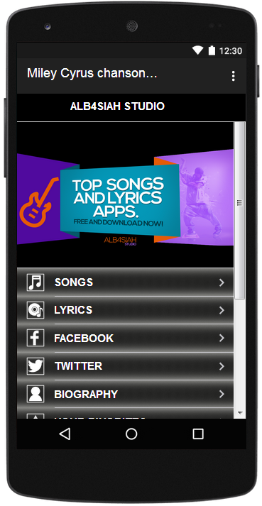 Miley Cyrus Songs & Lyrics - Android Apps on Google Play