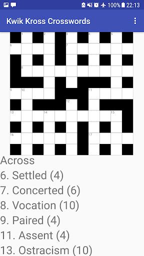 Kwik Kross Crosswords 1.0 screenshots 3