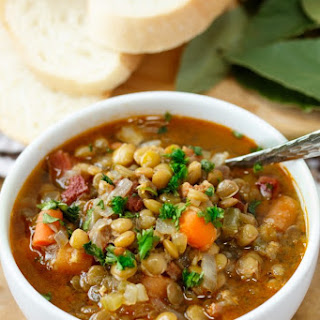 Mom's Lentil Soup.