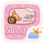 Sweet GO Weather Widget Theme