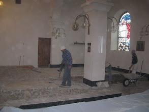 Photo: Radovi na uređenju prezbiterija župne Crkve u Podhumu