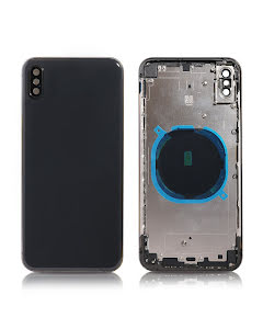 iPhone XS Max Back Housing without logo High Quality Space Gray
