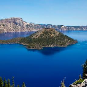 Crater Lake Oregon by Karin Bennett - Landscapes Travel ( national park, lake )