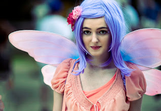 Photo: Violet Fairy I went to Scarborough Faire Renaissance Festival a couple of weeks ago and had a ton of fun shooting the workers and guests. I love catching people in that moment between minding their own business then realizing they are being photographed. It's like a moment where they are being most natural before unconsciously smiling or posing.