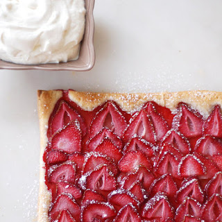 Puff Pastry Strawberry Tart.