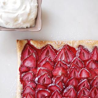 Puff Pastry Strawberry Tart.
