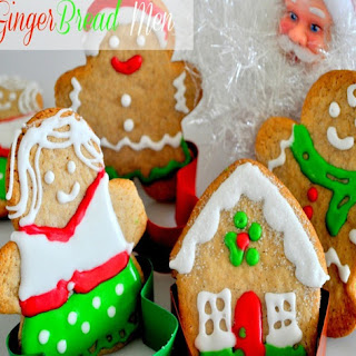 Eggless Gingerbread Men with Vegan Royal Icing | cookies decoration ideas for Christmas