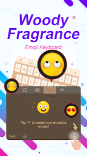Woody Fragrance Theme&Emoji Keyboard - náhled