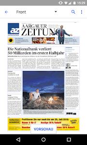 az Aargauer Zeitung E-Paper screenshot 1