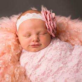 Sleepy Coos by Nicole Ferris - Babies & Children Babies ( lace, girl, baby girl, sleeping, baby, smiling, newborn,  )