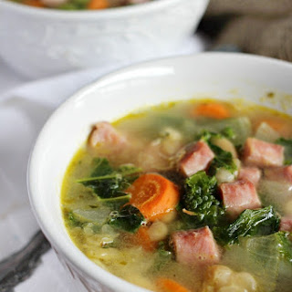 White Bean and Ham Soup with Kale