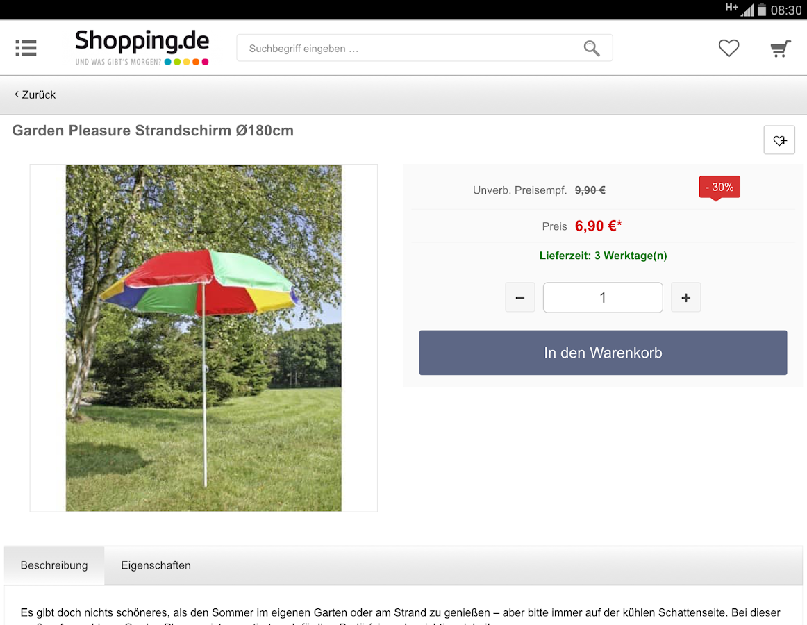 Shopping.de  App- screenshot