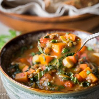 Vegetable Soup with Lentils & Seasonal Greens