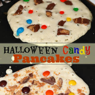 Halloween Candy Pancakes.