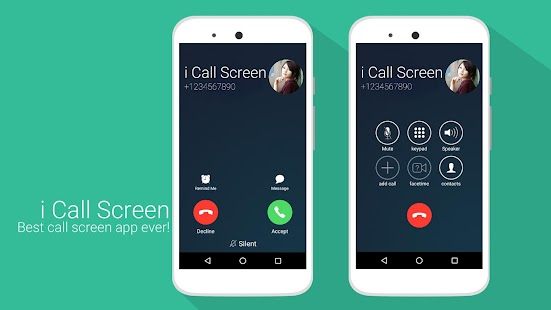 i Call screen Free + Dialer Screenshot
