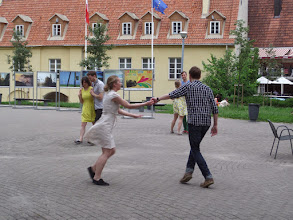 """Photo: On the way back to our hotel, we saw some young people """"swinging"""" to the music."""