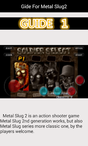 Guide For Metal Slug2  code Triche 1
