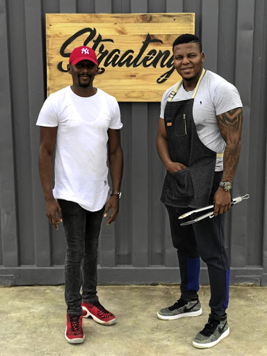 Mothusi Leotlela and Dice Lenkwe, co-owners of Straateng Meat Lounge.