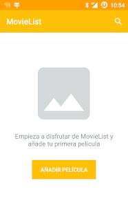 MovieList - náhled