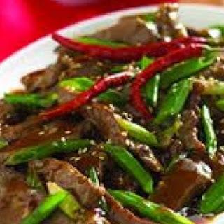 PF Changs Mongolian Beef.