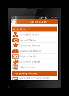 Resume Builder screenshot