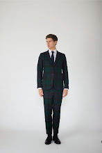 Photo: Black Watch suit or separates with navy silk tie