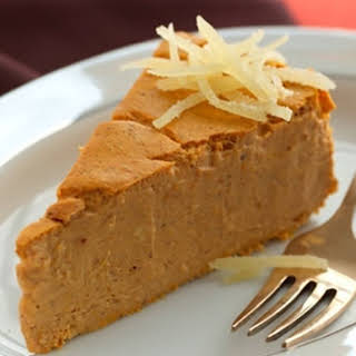 Pumpkin-Maple Crustless Cheesecake.
