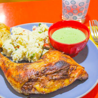 Peruvian Style Chicken with Green Sauce