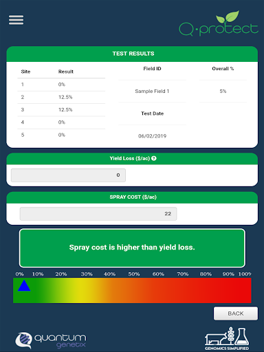 Screenshot for Quantum Genetix DNA Testing App in United States Play Store