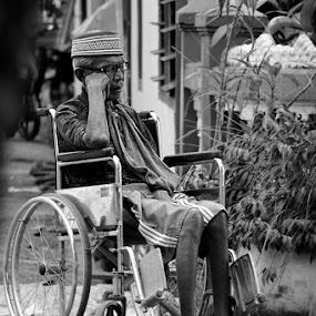 me & my wheelchair by Andika Putra - People Portraits of Men
