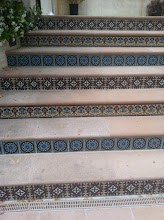 Photo: Malibu Tile Works - Stair Riser Tiles - Private Residence - Malibu, CA