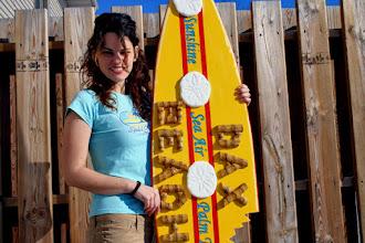 Photo: Dax Beach FloridaCustom Carved Wood Sign by Melissa Jones www.NiceCarvings.com