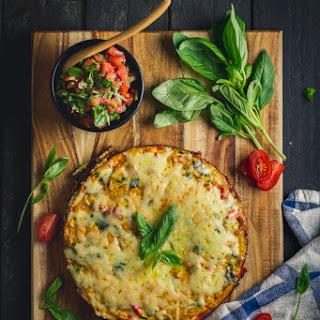 Breakfast Frittata with Roasted Pepper Pesto.