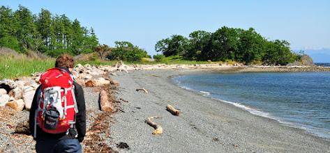 Photo: Karsten exploring the shore