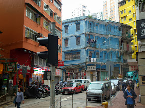 Photo: The blue building in Wanchai 灣仔