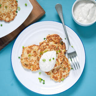 Parmesan & Spring Onion Cauliflower Fritters