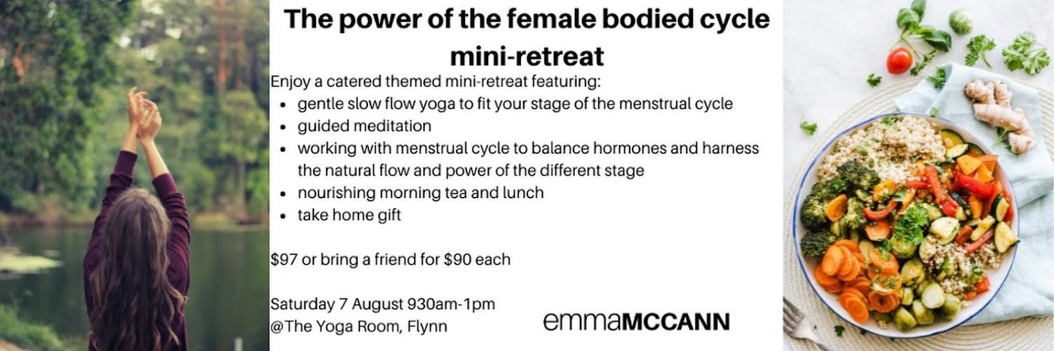 The power of women's cycles mini-retreat
