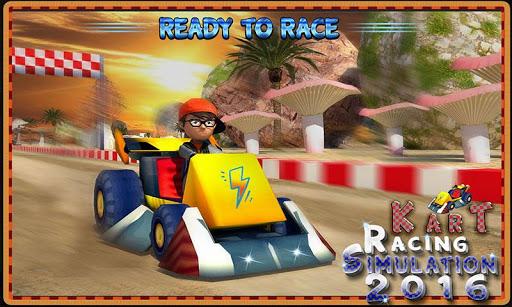 レーシングカートシミュレーション3D 2016